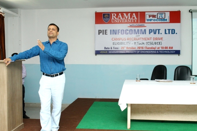 Campus Placement Drive with PIE Infocomm Pvt Ltd