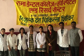 Rama University's Faculty of Dental Sciences conducted a free Dental Screening and Treatment Camp