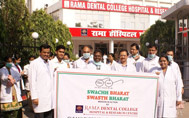 Swachhata Abhiyan in Rama Dental College