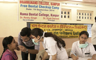 Dental Camp at Brahmanand College