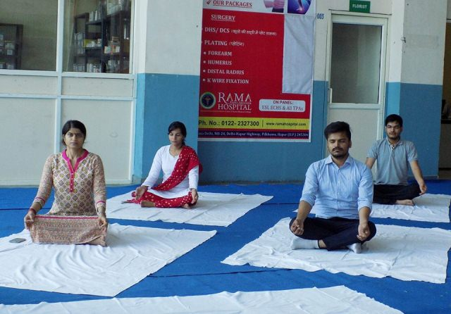 International Yoga Day at Rama University Delhi NCR  2016