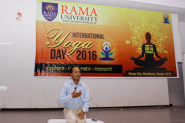 Rama University Uttar Pradesh Celebrates International Yoga Day 2016