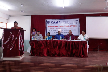 INSTITUTIONAL WORKSHOP  ON WORLD NO TOBACCO DAY – 2016