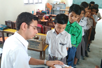 Free Dental Screening Camp at Bright Angel Public School, Akbarpur