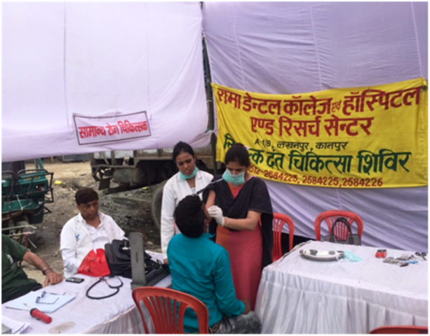 Free Dental Treatment Camp at Transport Nagar